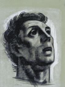 Orpheus, Eiserner Vorhang, Staatsoper Wien, Kopfstudie
