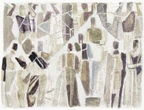 Arbeitende Menschen, Arbeiterkammer Wien, Steinmosaikentwurf